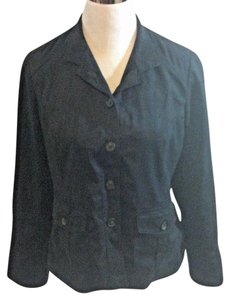 Coldwater Creek Lightweight Casual Micorfiber Solid New Navy Blue Jacket