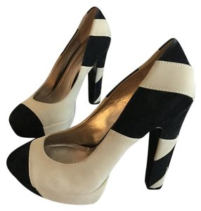 BCBGeneration Black and Nude Pumps