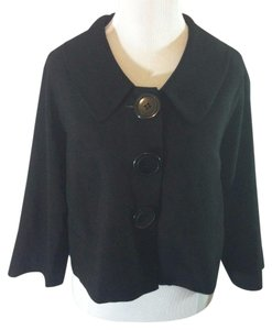 Lapis Jacket Office Solid Modern Swing Black Blazer