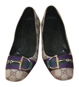 Gucci Gucci Logo with Purple Band Pumps