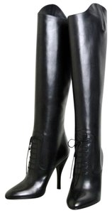 Gucci Elizabeth High Heel Leather Black Boots