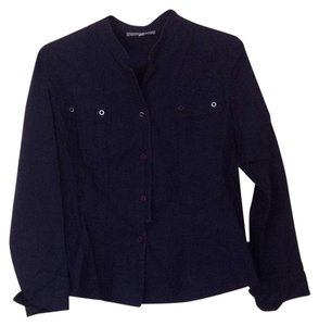 Lynn cantin Button Down Shirt Dark blue
