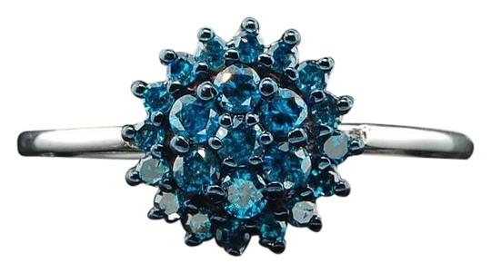 Preload https://img-static.tradesy.com/item/19798311/ladies-10k-white-gold-flower-set-blue-diamond-engagement-ring-0-1-540-540.jpg