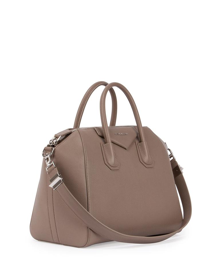 5d24aa19c84d Givenchy Antigona Large Medium Rare Color Current Season Taupe Grey Begie  Leather Satchel