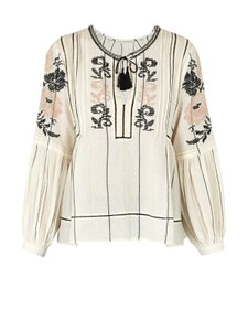 Ulla Johnson Embroidered Top Ivory