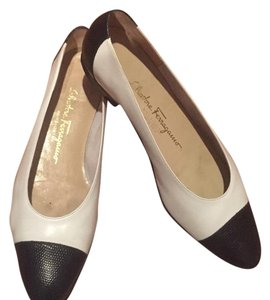 Salvatore Ferragamo Black, white Flats