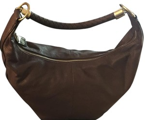 Dana Buchman Color/leather Hobo Bag
