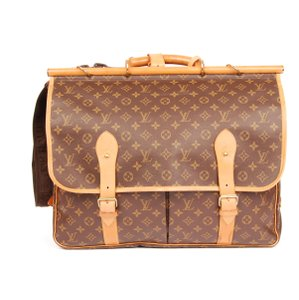 Louis Vuitton Hunting Sac Chasse Weekend/travel Suitcase Brown Travel Bag