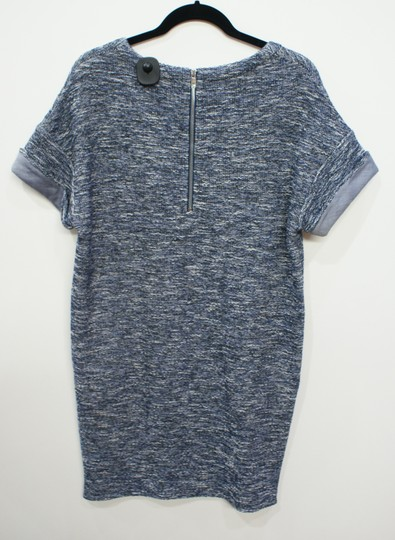 on sale Vince Blue Boucle/tweed Rolled Sleeve Sz M $295 Nwt Dress - 49% Off Retail