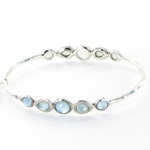 Ippolita Ippolita Stella Bangle Bracelet Tiara Blue Topaz Diamond Mop Sterling