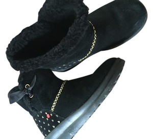 UGG Australia I Heart Black w/Gold Red Accent Boots