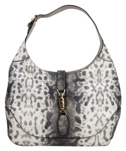 Gucci Grey Animal Karung Hobo Bag