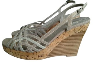 Kensie Beige Wedges