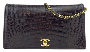 Chanel Gold Hardware Leather Logo Shoulder Bag
