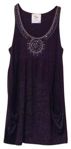 Anthropologie short dress Deep Purple on Tradesy