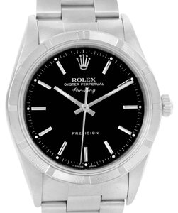Rolex Rolex Air King Black Dial Oyster Bracelet Steel Mens Watch 14010