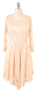 Free People short dress Baby Pink Longsleeve Flared Skirt on Tradesy