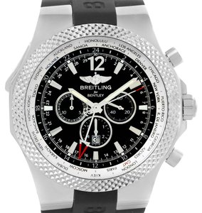 Breitling Breitling Bentley Chronograph GMT Black Dial Mens Watch A47362 Unworn