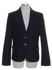 Talbots Cotton Long Sleeve Two-button Black Blazer