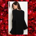 Other short dress Black Embroidery Bohemian Bell Sleeve Embroidery Long Sleeve on Tradesy Image 2