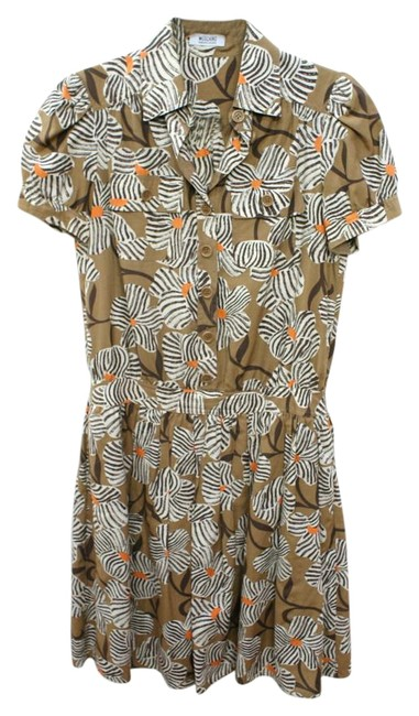 Moschino Brown Cheap and Chic Floral Shirtwaist Knee Length Work/Office Dress Size 8 (M) Moschino Brown Cheap and Chic Floral Shirtwaist Knee Length Work/Office Dress Size 8 (M) Image 1