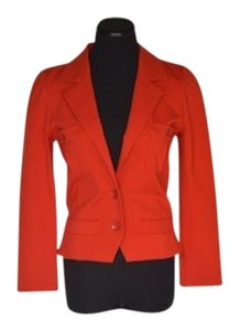 Marc by Marc Jacobs Buttoned Pleated Belted Orange/Red Blazer