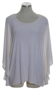 Chico's Knit Handkerchief Textured Stretchy Top Ivory