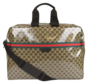 Gucci Leather Joy Boston Brown Travel Bag