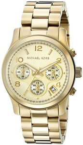 Michael Kors Michael Kors Midsized Chronograph Gold Tone Womens Watch MK5055