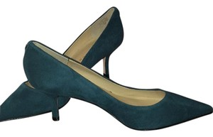 Ivanka Trump Suede Green Pumps