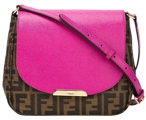 Fendi Zucca Handbag Cross Body Bag
