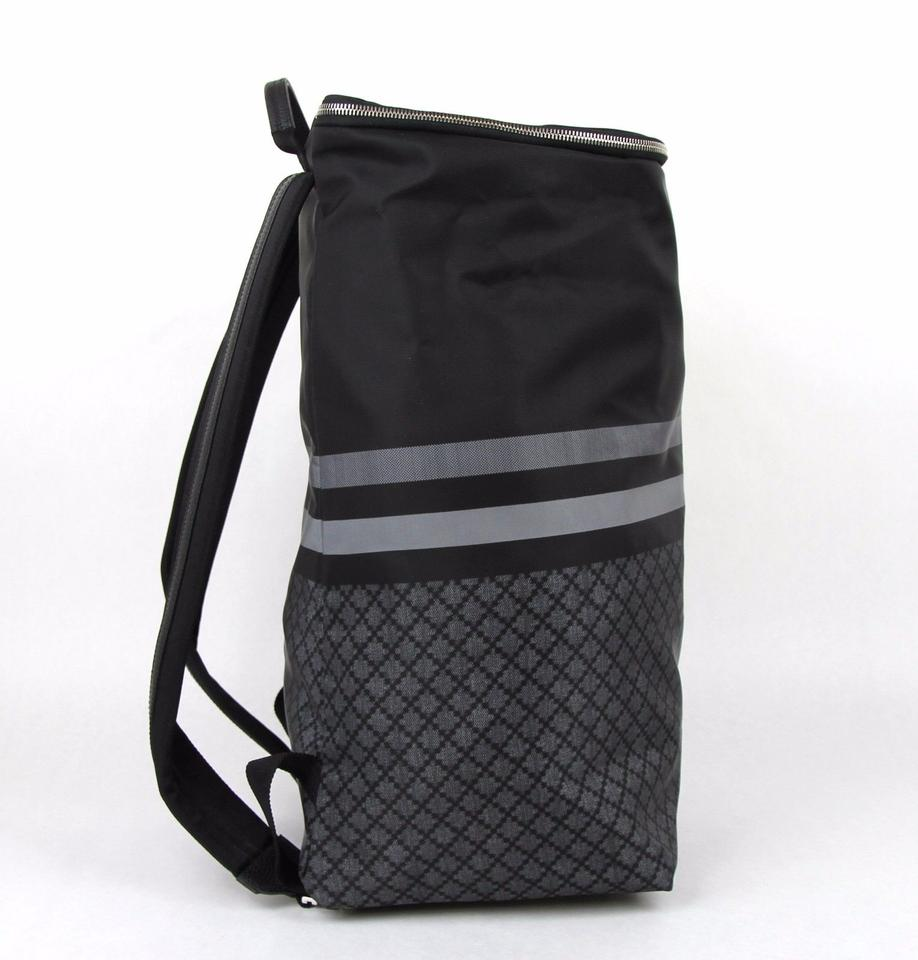 Gucci New Tall Diamante Travel 365284 1160 Black Gray Nylon Backpack -  Tradesy f259e304ef4ca