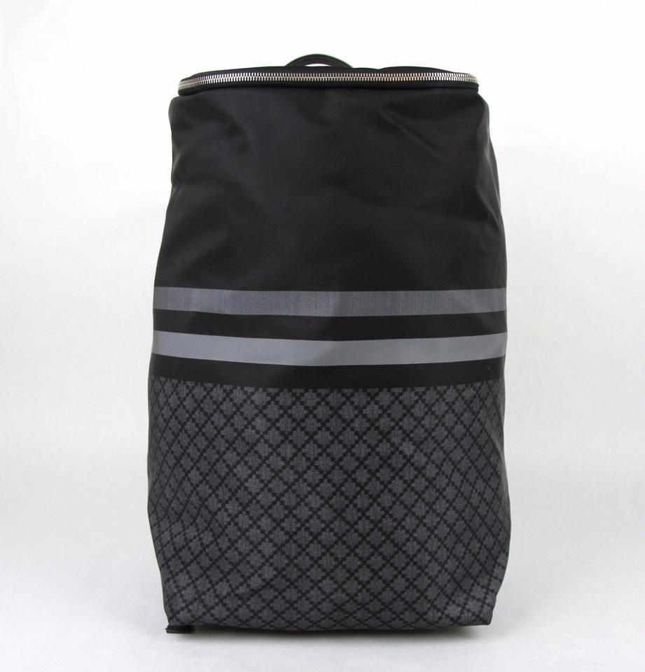 Gucci New Tall Diamante Travel 365284 1160 Black Gray Nylon Backpack ... 51b4974446002