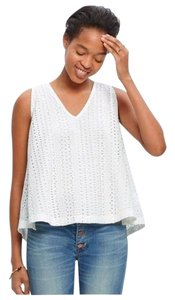 Madewell Embroidered Flirty Top White & Black