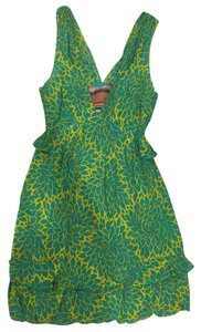 Nanette Lepore short dress Green Silk on Tradesy