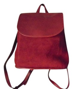 Coach Italian Leather Made In Italy Burgundy Backpack