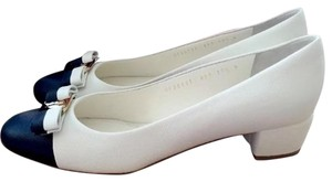 Salvatore Ferragamo Vanilla and Black Pumps