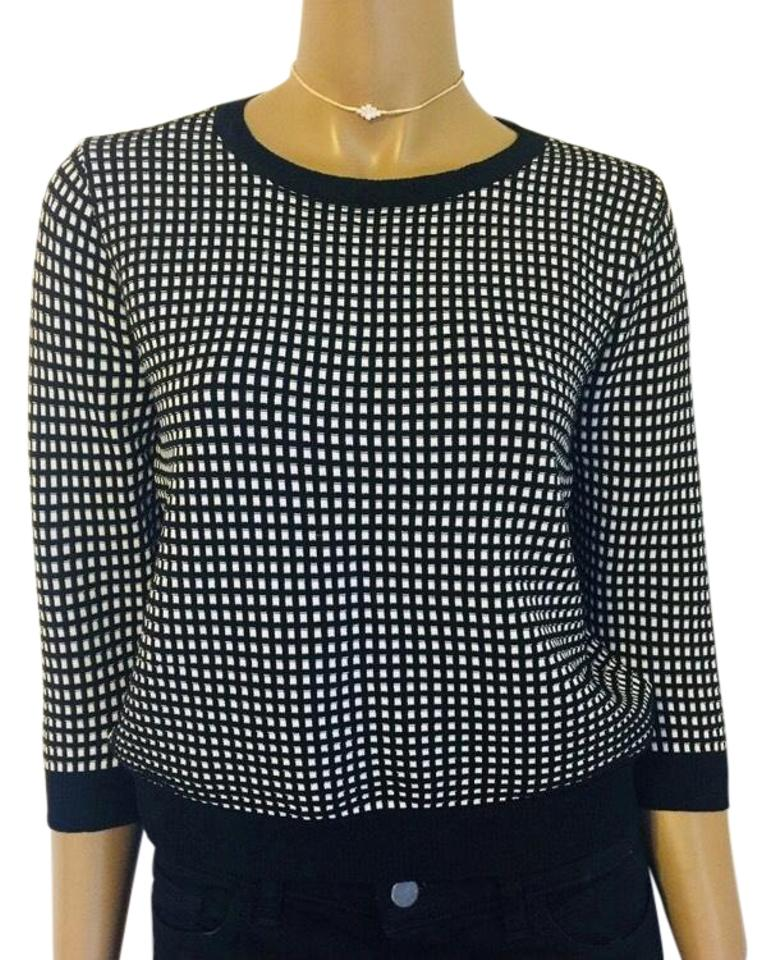 4d812af19 Zara 3 4 Black and White Sweater - Tradesy