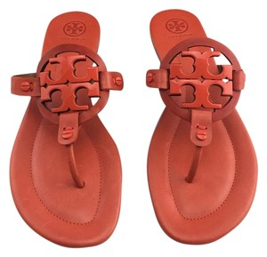 Tory Burch Miller Orange Sandals