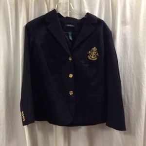 Ralph Lauren Cotton Black Blazer