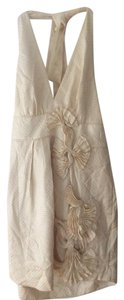 BCBGMAXAZRIA Halter Cream Bcbg Knee Length Dress
