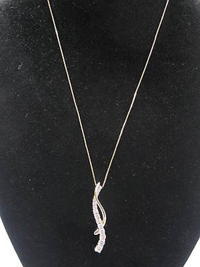 Other Fine 2-tone Diamond Necklace Earrings 14kt 1.33ct