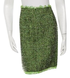 Lanvin New Boucle Mini Skirt green
