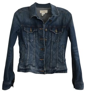 J.Crew Denim Shrunken Medium Blue Womens Jean Jacket