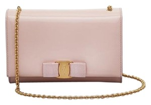 Salvatore Ferragamo Patent Leather Designer Cross Body Bag