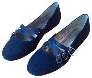 Lands' End Navy Flats