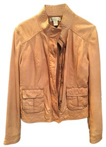 Lucky Brand Leather Camel Leather Jacket