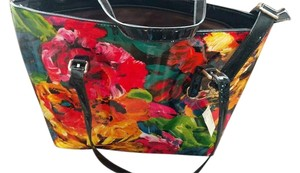 Turtle Toes Floral Bright Print Tote in Multi