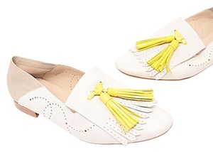 Fratelli Rossetti Kiltie Tassels White with Yellow Flats