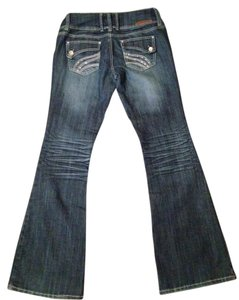 Almost Famous Clothing Flare Leg Jeans-Distressed